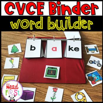 CVCE Binder Word Building Word Work ELA Phonics 1st Grade Center