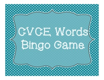 CVCE Bingo Game