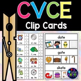 Long Vowels with Silent E - CVCE Activities Clip Cards