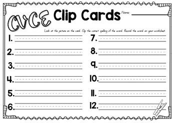 CVCE Clip Cards