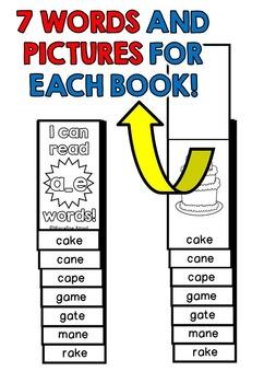 CVCE FLIP BOOKS: LONG VOWELS FLIP BOOKS / MAGIC E FLIP BOOKS: CVCE PRINTABLES