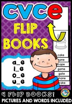 CVCE FLIP BOOKS: LONG VOWELS FLIP BOOKS / MAGIC E FLIP BOO