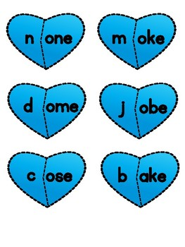 CVCE Hearts - Mix and Match - Long Vowels