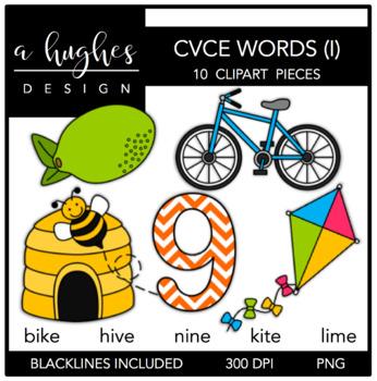 CVCE I Words Clipart {A Hughes Design}