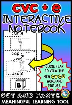 LONG VOWELS ACTIVITIES: CVC+E INTERACTIVE NOTEBOOK: MAGIC E PRINTABLES