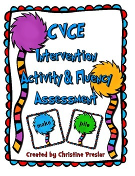 CVCE Intervention Activity & Fluency Assessment Pack