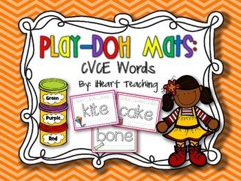 CVCE Long Vowel Play-Doh Mats