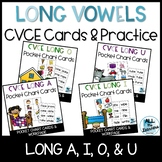 CVCE Long Vowel Pocket Charts Distance Learning