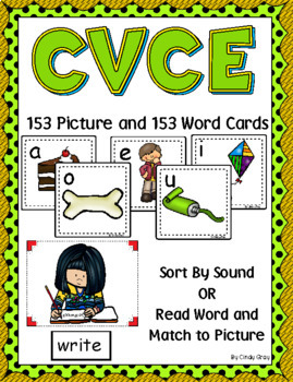 CVCE (Magic E) ~ Pocket Chart Sort with Matching Word Cards