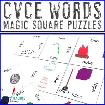 CVCe Words Literacy Center Game