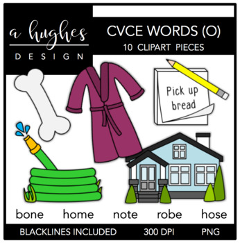 CVCE O Words {Graphics for Commercial Use}