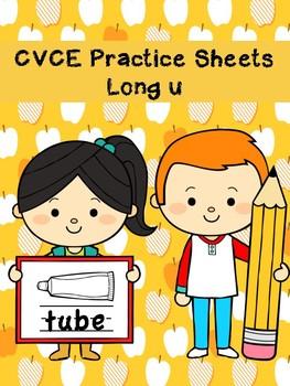 CVCE Silent E Practice Sheets Long U Words No Prep Printables
