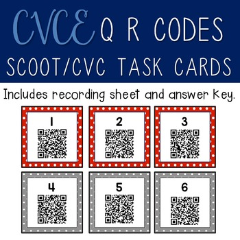 CVCE Scoot/Task Cards with QR Codes