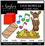 CVCE U Words Clipart {A Hughes Design}