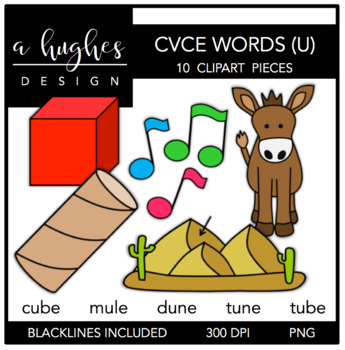 CVCE U Words {Graphics for Commercial Use}