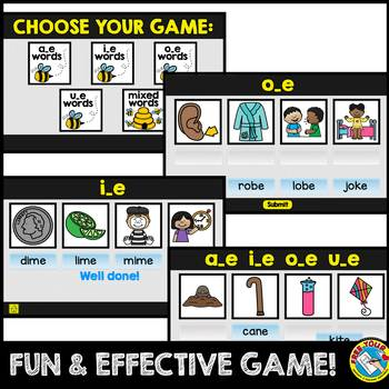 CVCE WORDS INTERACTIVE GAME (MATCHING CVCE WORDS WITH PICTURES DIGITAL GAME)