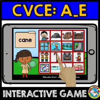 CVCE WORDS BOOM CARDS BUNDLE (READING MAGIC E WORDS) PHONICS ACTIVITIES