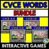 CVCE WORDS BOOM CARDS (READING MAGIC E WORDS) PHONICS ACTIVITIES FIRST GRADE