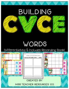 CVCE Word Building Mats (Magic E - Long Vowels)
