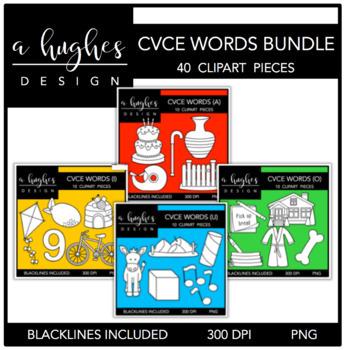 CVCE Word Clipart Bundle {A Hughes Design}