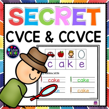 Secret Code CVCE Words - Break the Code