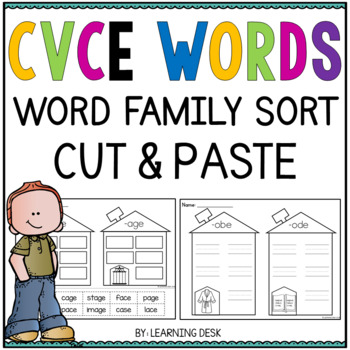 Long Vowel Worksheets CVCE Word Sort
