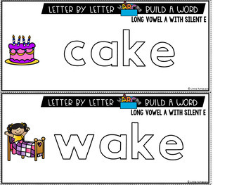 CVCE Words Activities: Long Vowels With Silent E