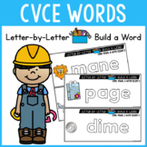 CVCE Activities: Long Vowels With Silent E - WORD BUILDING CARDS