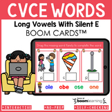 CVCE Words Boom Cards | Long Vowels With Silent E Words Di