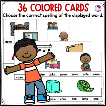 CVCE Words Clip Cards and Printables