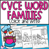 CVCE Words Color and Write Winter Themed