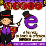 Silent E | Magic E | CVCe Activities