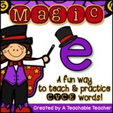 Silent E | Magic E | CVCe Activities