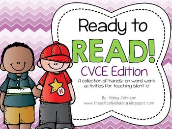 CVCE Word Work Activities for Long Vowels and Silent E