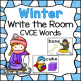 Winter Write the Room: CVCE Words