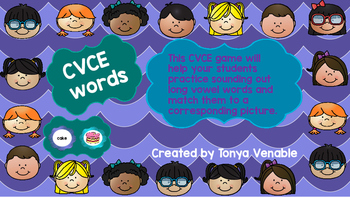 CVCE word and picture match game
