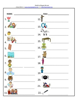 V/CV open syllable card match with worksheet - 2 syllable words