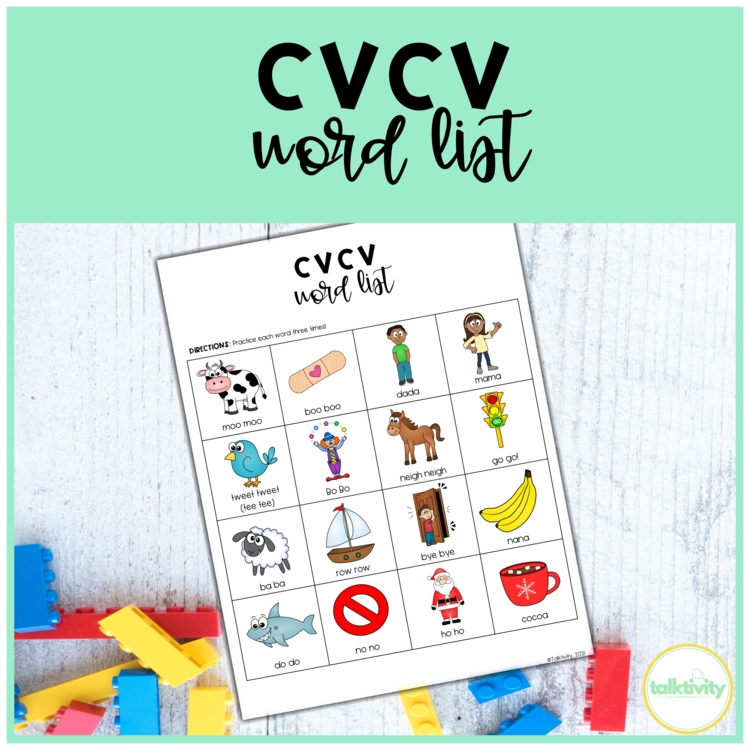 cvcv words worksheet by katie botash