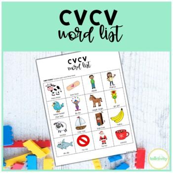 CVCV Words Worksheet