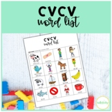 CVCV Words Worksheet