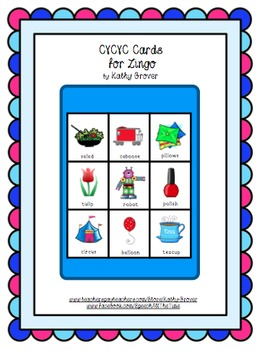 CVCVC Cards for Zingo