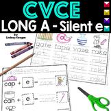 CVCe Worksheets - Long A  - Silent E Activities