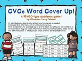 CVCe BINGO Style Word Cover Up