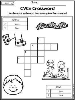CVCe: CVCe Crosswords No Prep Packet