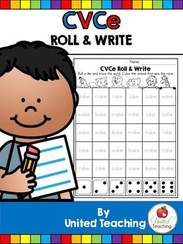 CVCe: CVCe Roll and Write No Prep Packet