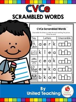 CVCe: CVCe Scrambled Words No Prep Packet