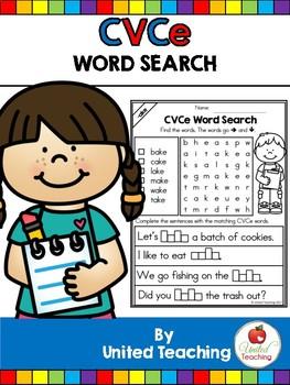CVCe: CVCe Word Search No Prep Packet