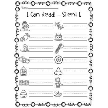 CVCe Center - Silent E Puzzles