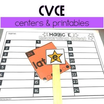 CVCe Centers & Printables