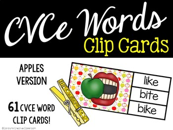 CVCe Clip Cards - Apples & Johnny Appleseed Edition